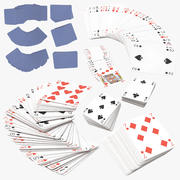 Playing Cards Blue 3d model