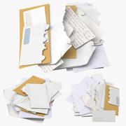 Mail Piles 3d model