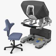 Cirurgião Console Da Vinci XI com Cadeira 3d model