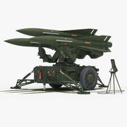 MIM-23 Hawk (Green Color) 3d model