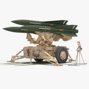 MIM-23 Hawk (Desert&Green Color) 3d model