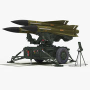 MIM-23 Hawk (Dark Green Color) 3d model