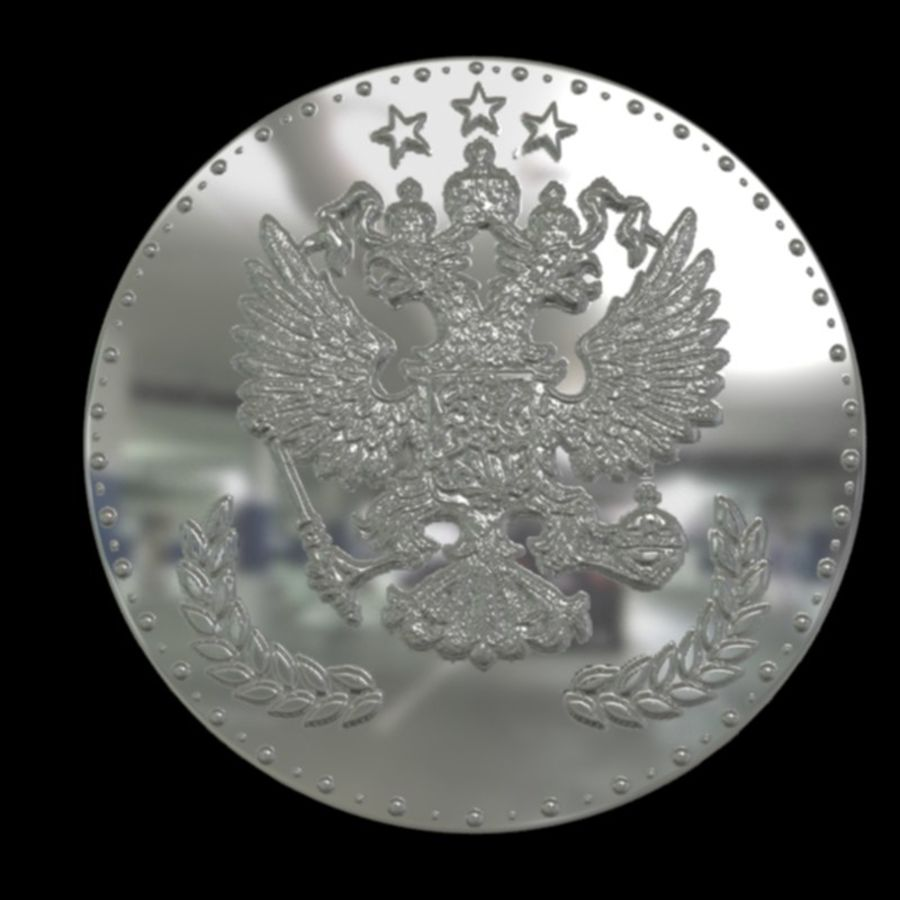 design coin 3 royalty-free 3d model - Preview no. 2