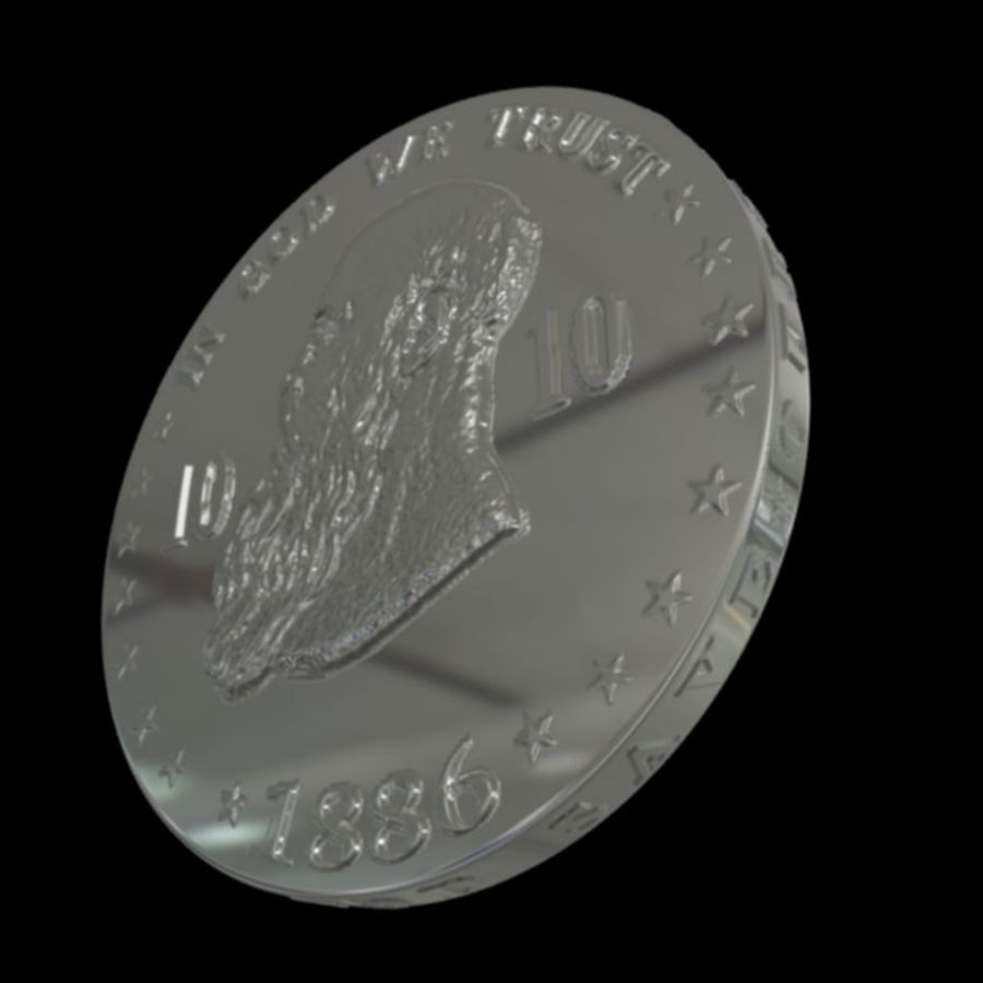 design coin 3 royalty-free 3d model - Preview no. 4