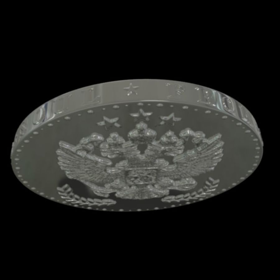 design coin 3 royalty-free 3d model - Preview no. 7
