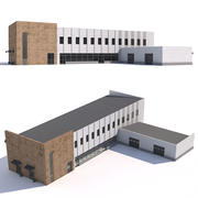 Garage avec boutique 3d model