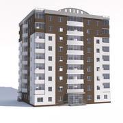 Nio våningar hyreshus 3d model