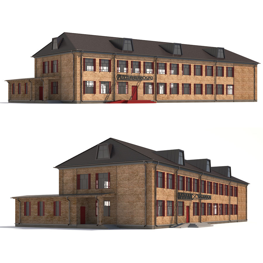 Bâtiment public royalty-free 3d model - Preview no. 1