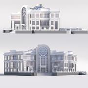 Bâtiment public classique 3d model