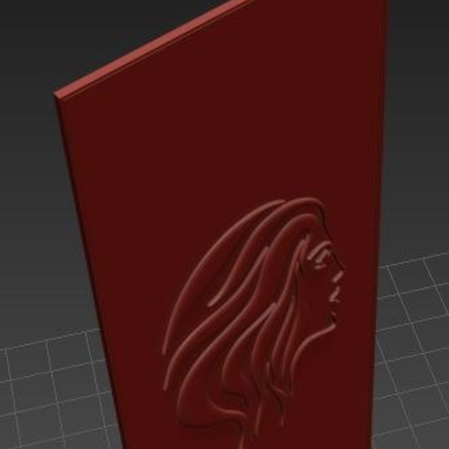 Mujer misteriosa royalty-free modelo 3d - Preview no. 2