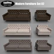 Low-Poly Modern Furniture Set 02 3d model