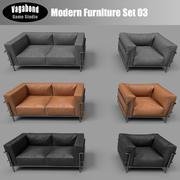 Low-Poly Modern Furniture Set 03 3d model