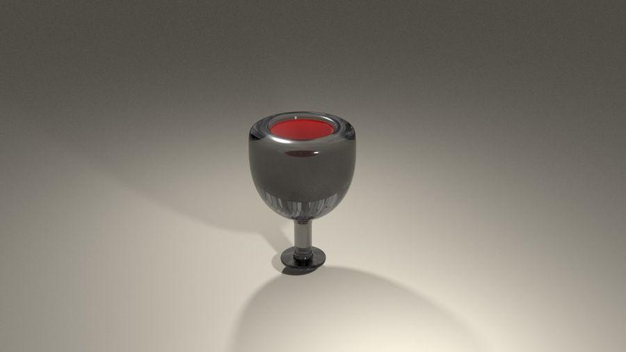 와인 한 잔 royalty-free 3d model - Preview no. 5
