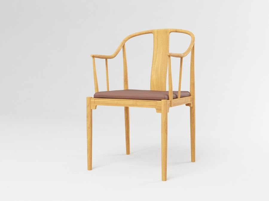 cadeira chinesa de hans wegner royalty-free 3d model - Preview no. 2