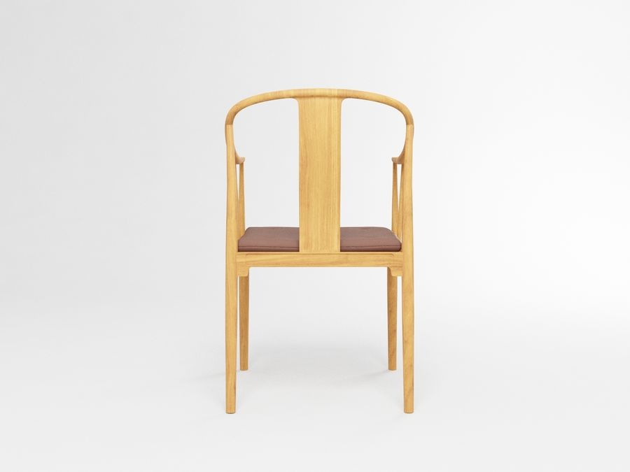 cadeira chinesa de hans wegner royalty-free 3d model - Preview no. 4