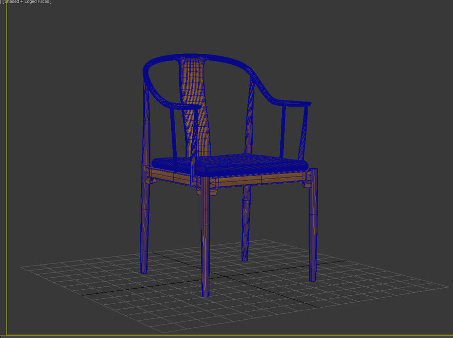 cadeira chinesa de hans wegner royalty-free 3d model - Preview no. 8