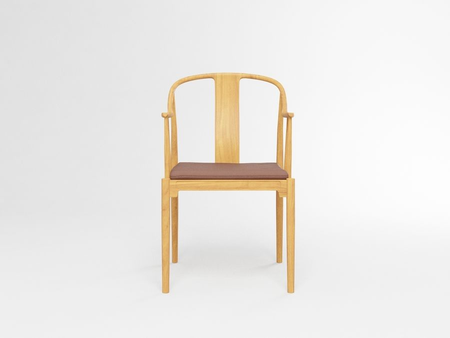 cadeira chinesa de hans wegner royalty-free 3d model - Preview no. 3