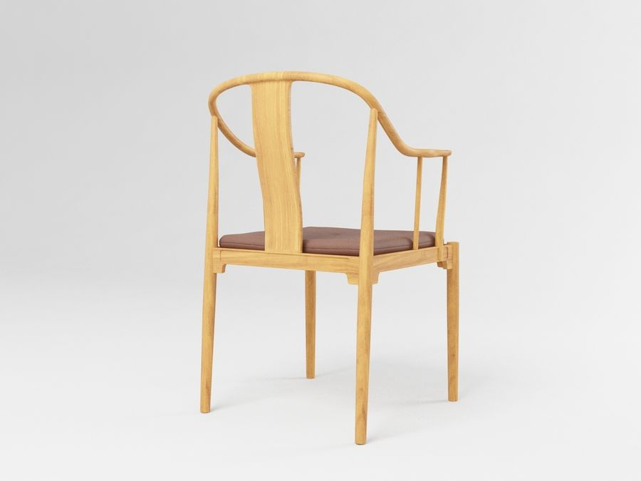 cadeira chinesa de hans wegner royalty-free 3d model - Preview no. 6