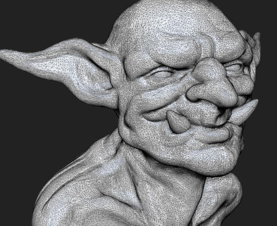 Twoll Büste für 3D-Druck royalty-free 3d model - Preview no. 6