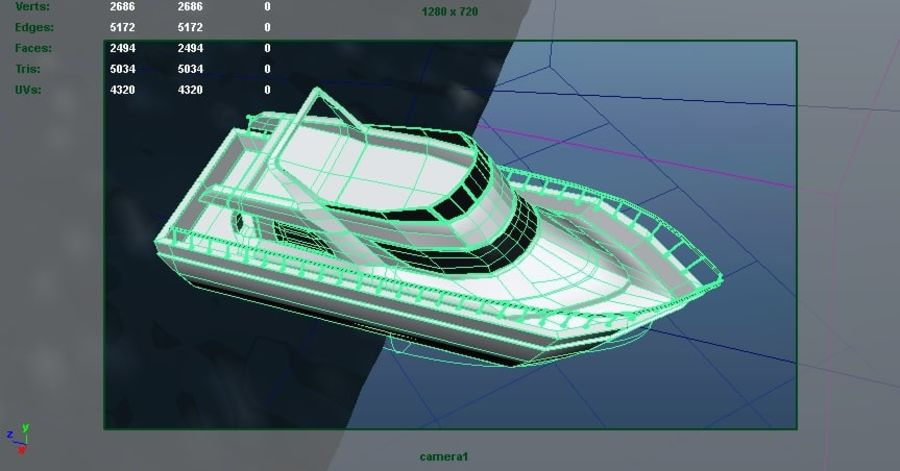 Animated Boat with Ocean royalty-free 3d model - Preview no. 10