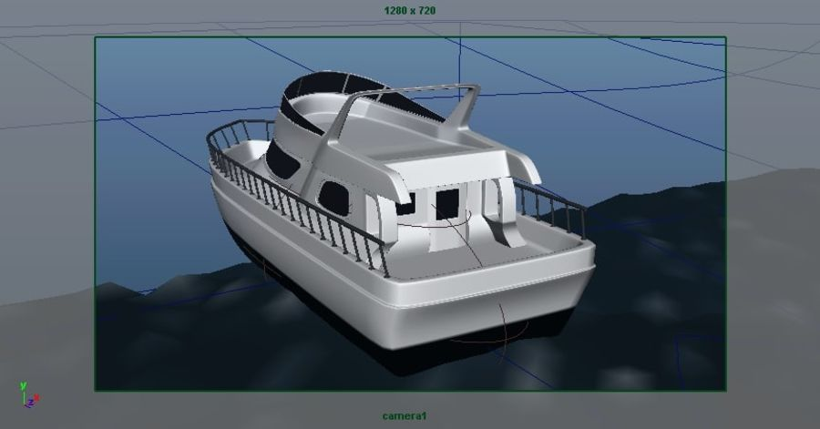 Animated Boat with Ocean royalty-free 3d model - Preview no. 15