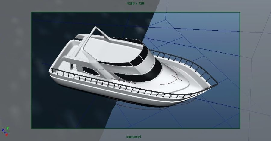 Animated Boat with Ocean royalty-free 3d model - Preview no. 20