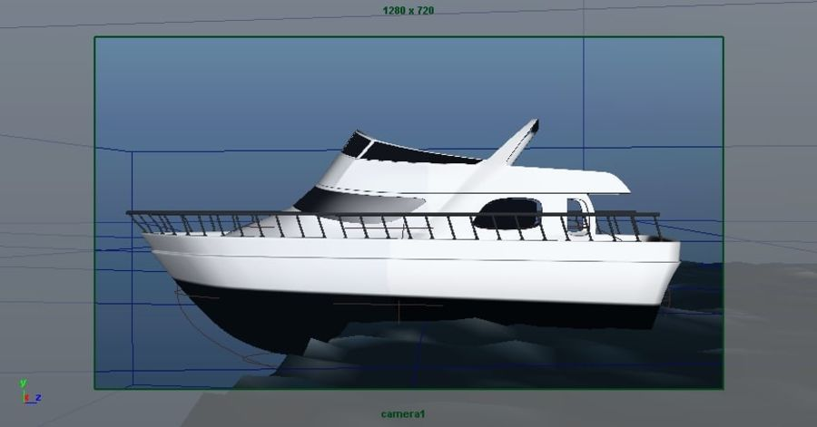Animated Boat with Ocean royalty-free 3d model - Preview no. 16