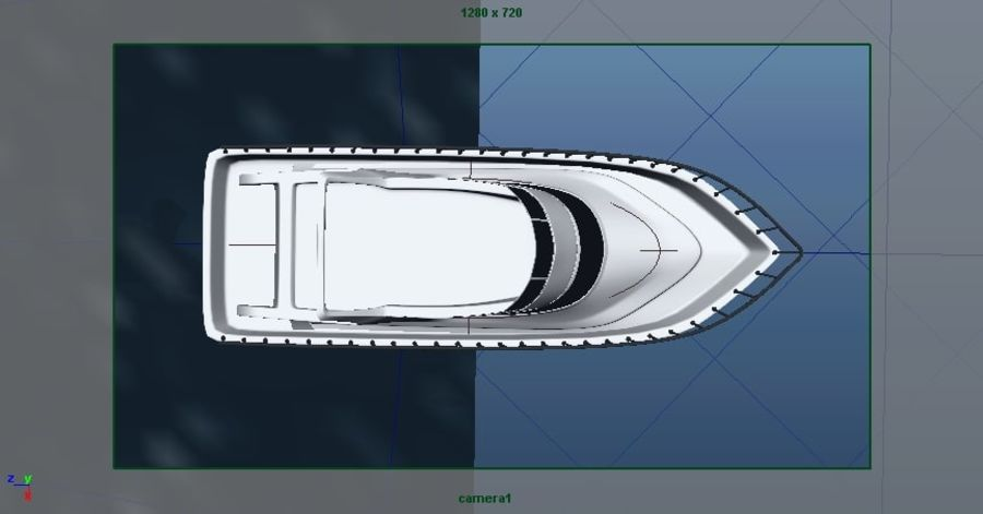 Animated Boat with Ocean royalty-free 3d model - Preview no. 19