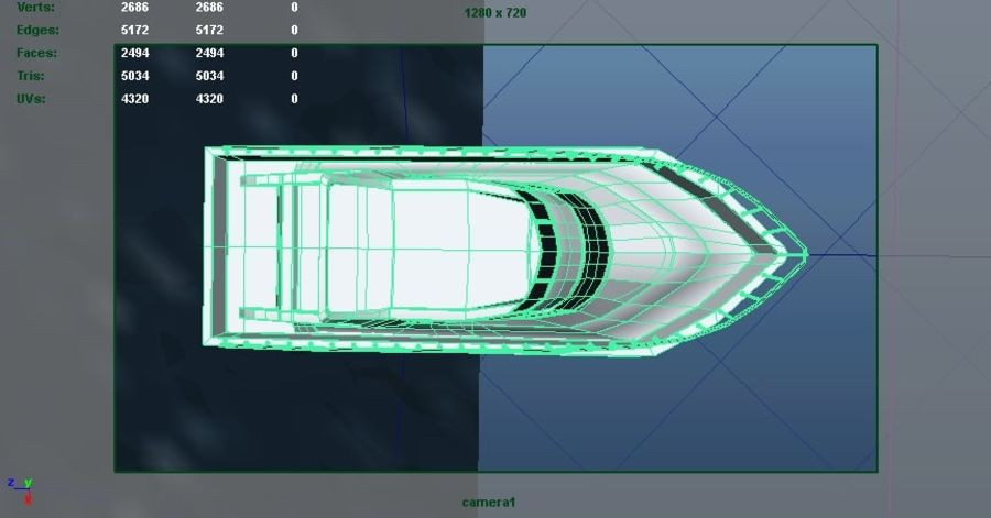 Animated Boat with Ocean royalty-free 3d model - Preview no. 9
