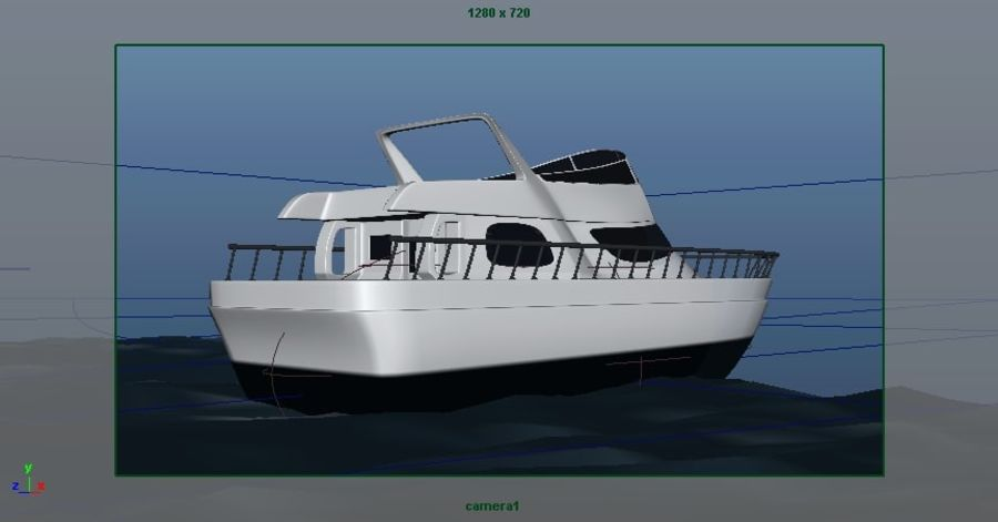 Animated Boat with Ocean royalty-free 3d model - Preview no. 14