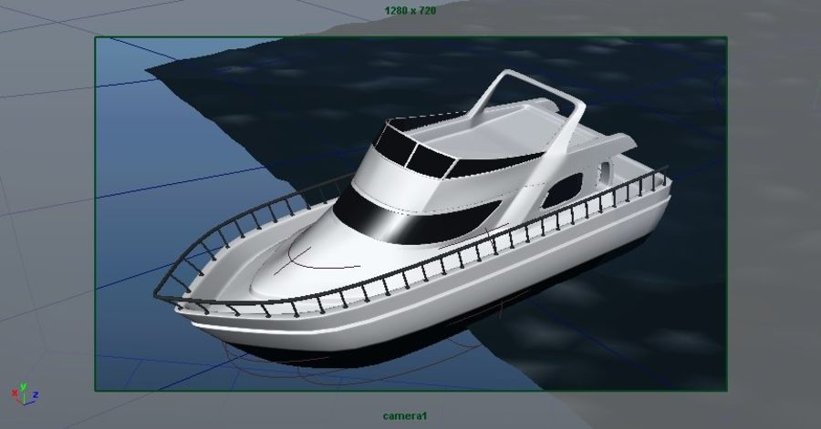 Animated Boat with Ocean royalty-free 3d model - Preview no. 17