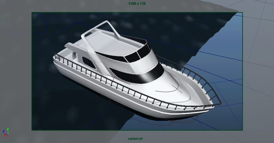 Animated Boat with Ocean royalty-free 3d model - Preview no. 13
