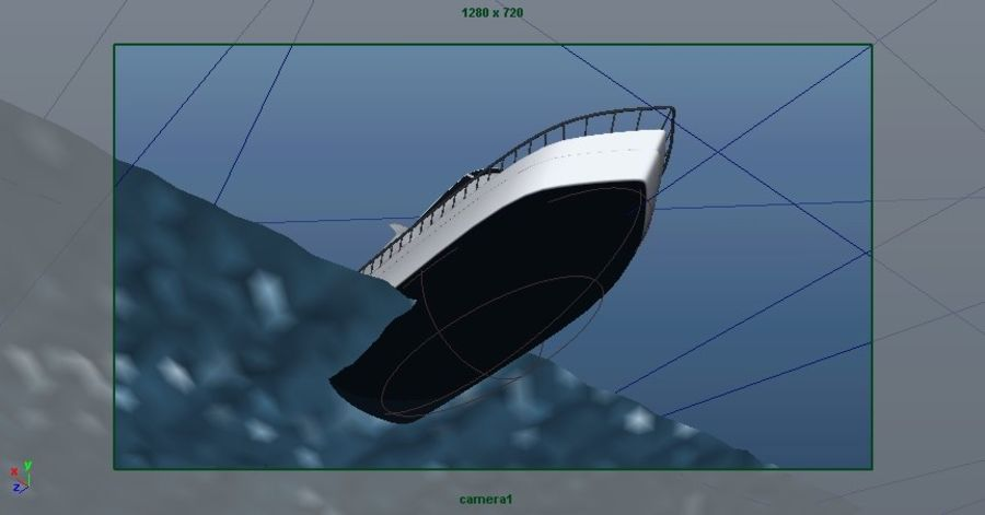 Animated Boat with Ocean royalty-free 3d model - Preview no. 21