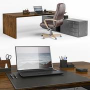 Zestaw przedmiotów do biura 3d model