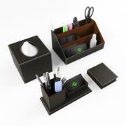 Stationery set on the Desk 3d model