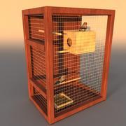 клетка для птиц 3d model