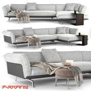 Canapé Este Flexform 3d model