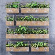 Rectangular shelves three 3d model