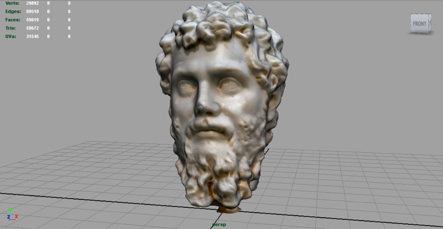Septimius Severus Bust royalty-free 3d model - Preview no. 3