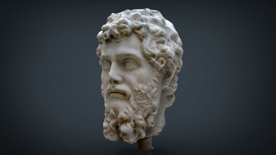 Septimius Severus Bust royalty-free 3d model - Preview no. 2