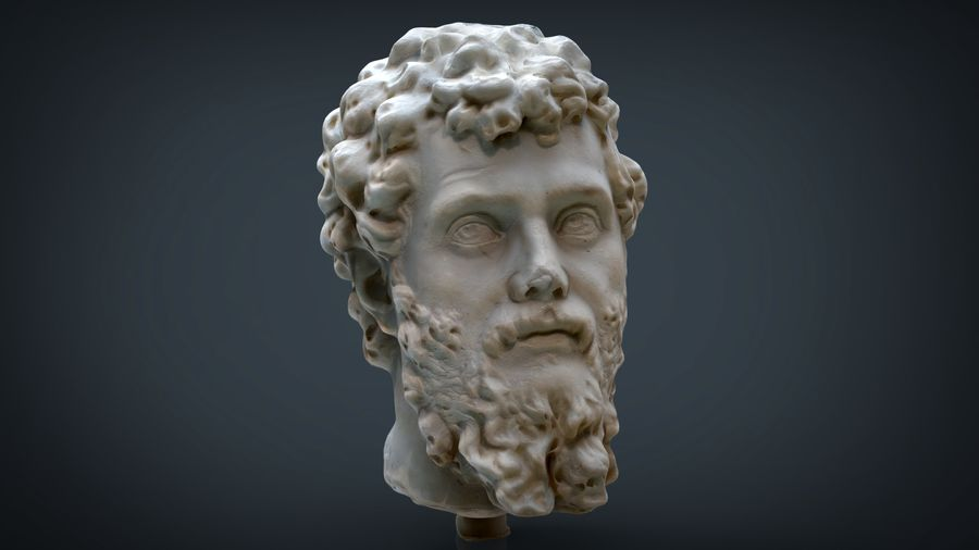 Septimius Severus Bust royalty-free 3d model - Preview no. 1
