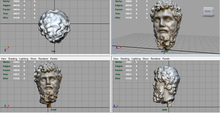 Septimius Severus Bust royalty-free 3d model - Preview no. 6