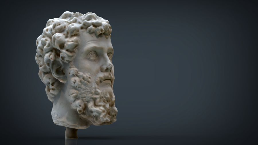 Septimius Severus Bust royalty-free 3d model - Preview no. 11