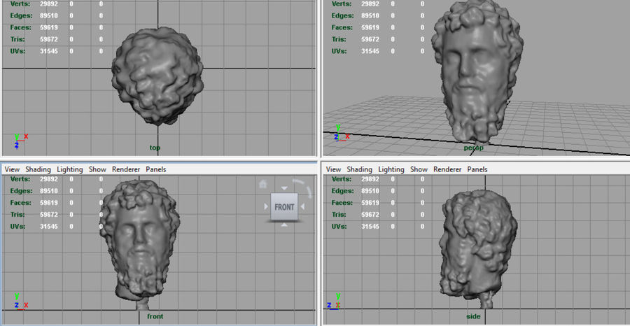 Septimius Severus Bust royalty-free 3d model - Preview no. 7