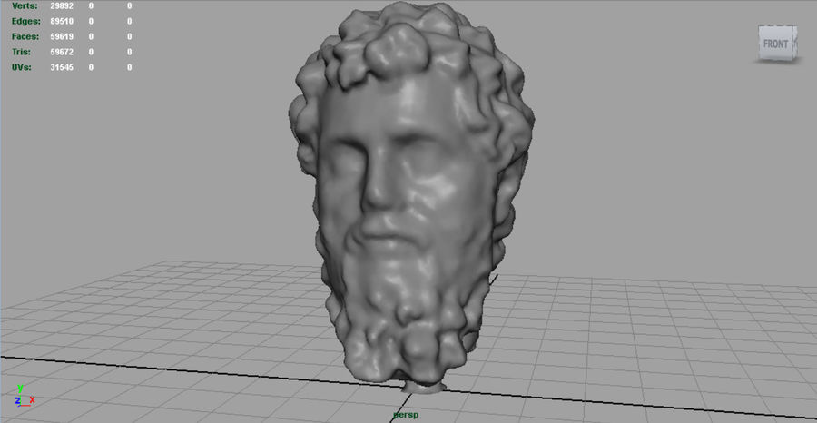 Septimius Severus Bust royalty-free 3d model - Preview no. 4