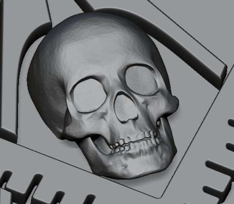 Bague maçons gratuite royalty-free 3d model - Preview no. 9