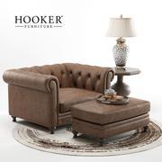 Meble Hooker - Fotel Alexa 3d model