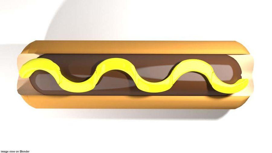 Fastfood - Hotdog royalty-free 3d model - Preview no. 3