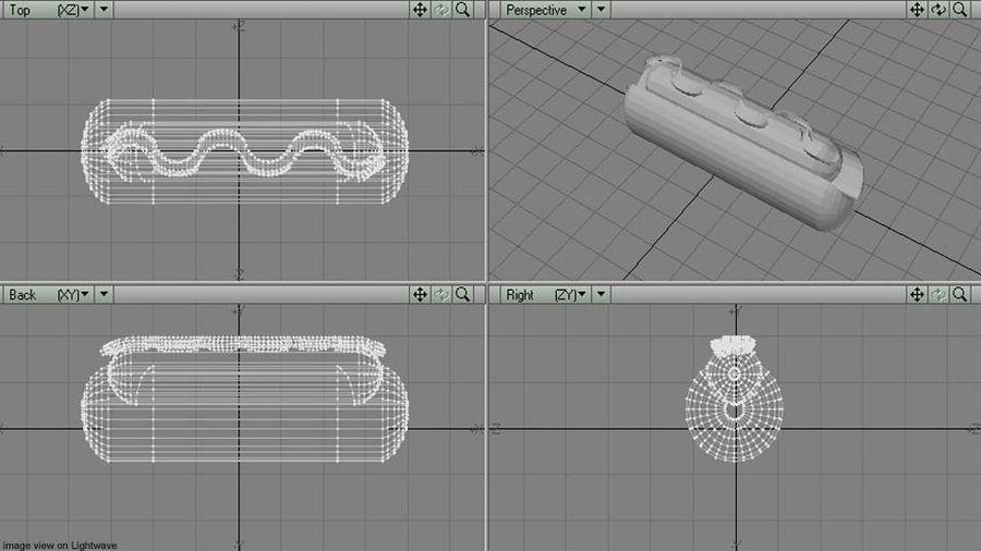 Fastfood - Hotdog royalty-free 3d model - Preview no. 6