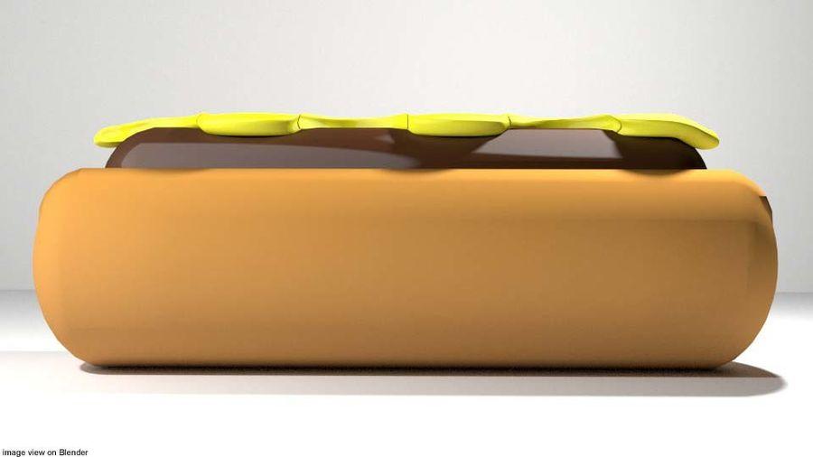 Fastfood - Hotdog royalty-free 3d model - Preview no. 2